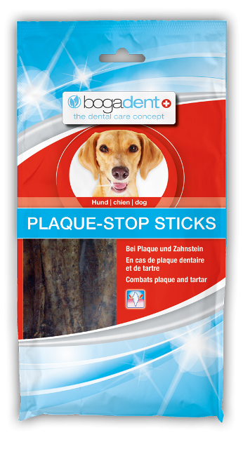 Bogadent Plaque-STOP sticks hund 100g M