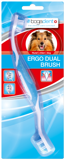 Image of Bogadent Ergo Dual brush hund 1stk