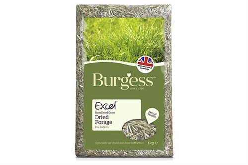 Burgess Excel dried fresh grass (hø) 1kg