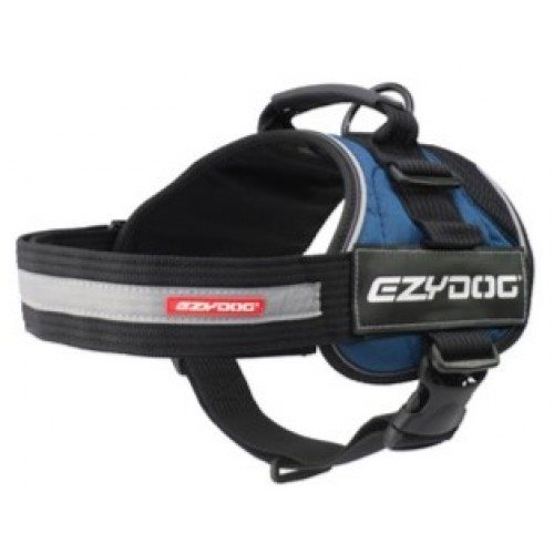 EzyDog Convert Harness, Sort/Blå