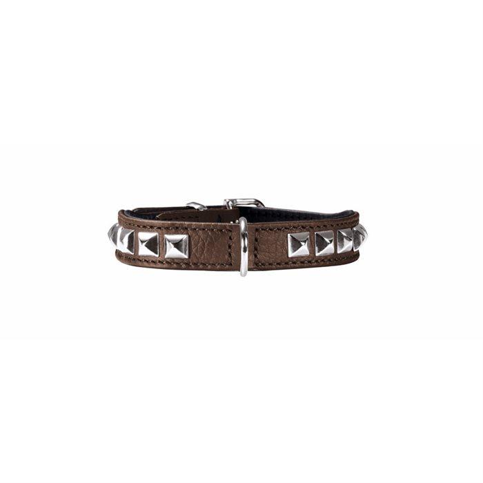 Halsbånd til den lille hund - Rocky Petit 30, brun