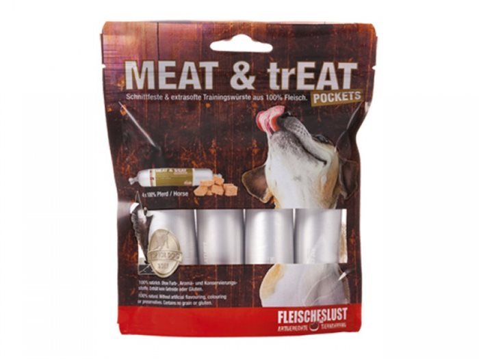 Image of   Meat & trEAT pocket hest, 4x40g