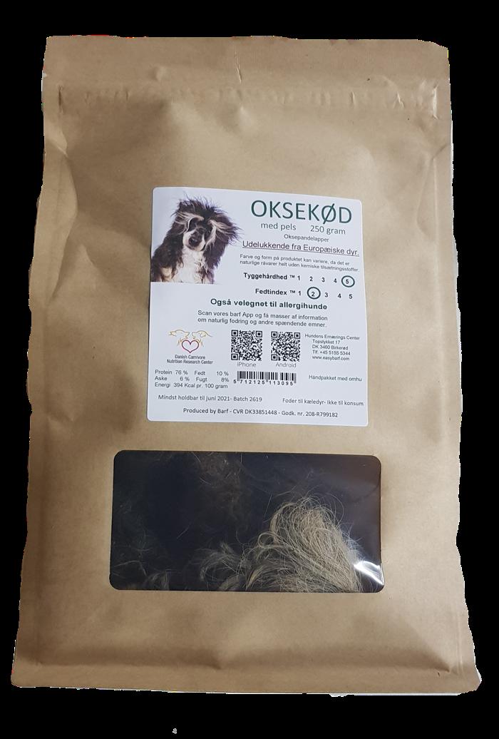 Image of   Oksekød med pels - 250Gram