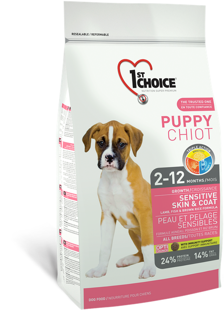 Image of   1st Choice Sensitive Skin & Coat All Breeds Puppy - 14kg