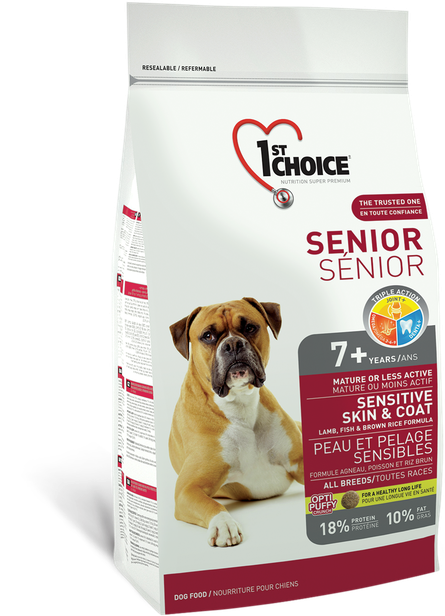 1st Choice Sensitive Skin & Coat All Breeds Senior - 12kg