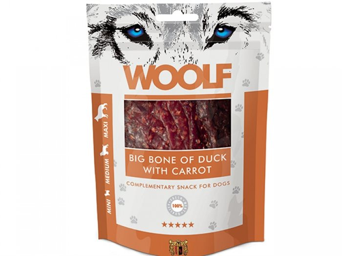 Image of   Woolf Big Bone of Duck with Carrot 100g