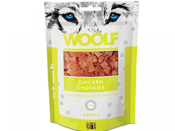 Image of   Woolf Chicken Chunkies 100g