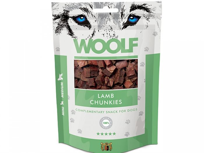 Image of   Woolf Lamb Chunkies 100g