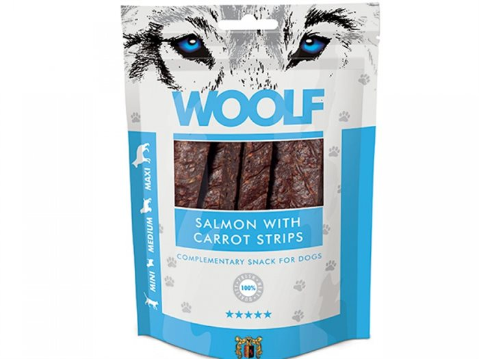 Image of   Woolf Salmon with Carrots Strips 100g