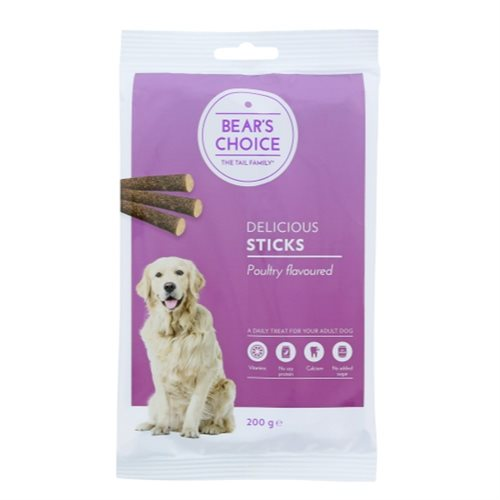 Bear's choice Sticks Fjerkræ - 200gr