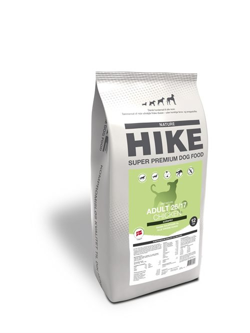 HIKE NATURE Adult CHICKEN 26/17 kornfri hundemad - 12 kg