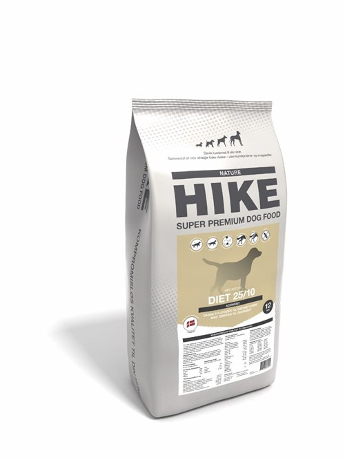 HIKE NATURE Diet 25/10 kornfri hundemad - 12 kg