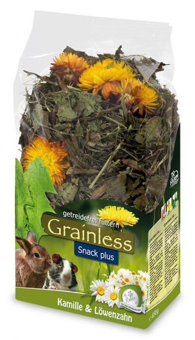 JR Grainless PLUS Kamille/Mælkebøtte - 100g
