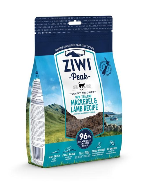 ZiwiPeak Cat Air-dried Mackerel & Lamb - 400g